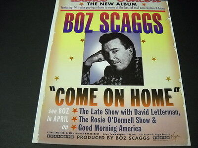 BOZ SCAGGS on LETTERMAN Rosie O'Donnell and GMA 1997 PROMO POSTER AD mint cond
