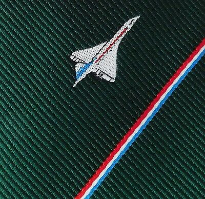 BAC Sports Club tie Concorde British Aircraft Corporation vintage 1970s plane