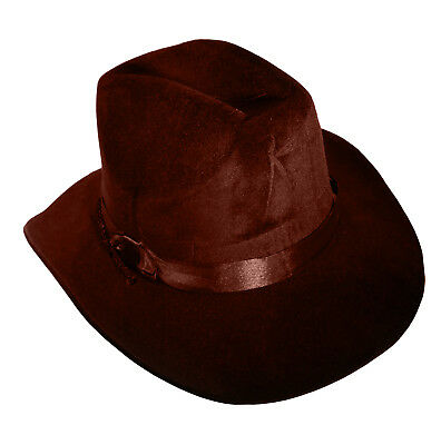 Wild West Old Western Sheriff Cowboy Hat Flocked Foam Costume Accessory NEW