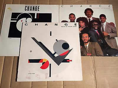 CHANGE - CHANGE OF HEART / SHARING YOUR LOVE / THIS IS YOUR TIME - 3 LPs