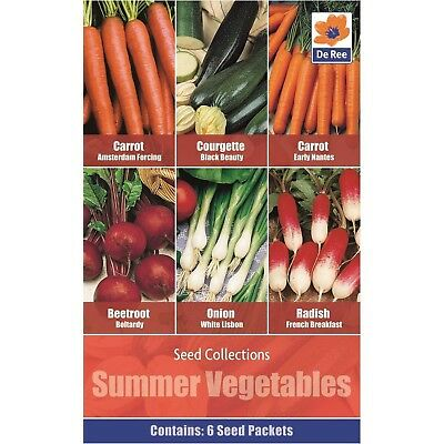 Vegetables Seed Collections - 6 in 1 pack - Summer Vegetables contains Carrot Am