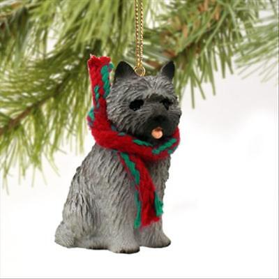Cairn Terrier Gray Dog Tiny One Miniature Christmas Holiday ORNAMENT