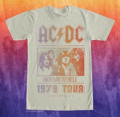 New AC/DC Highway To Hell Tour Mens 1979 Vintage T-Shirt
