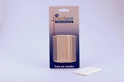 MediSure Double Sided Nit Comb (Twin Pack)