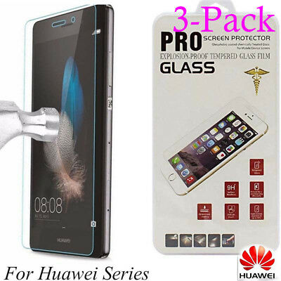 3 Tempered Glass Film Screen Protector For Huawei P20 P8/P9/P10Plus/Lite Honor 9