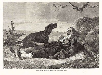 Napoleonic Wars Grande Armée Dead French Soldier's Dog Protects His Body 1868