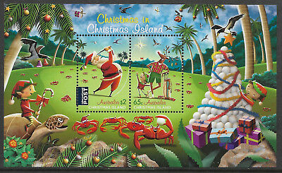 CHRISTMAS IS 2017 FATHER CHRISTMAS GOLF Souvenir Sheet Mint Never Hinged