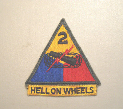 Ww2 U.s Army 2Nd Armored Division Hell On Wheels Patch   *no Glow Patch*   L@@k