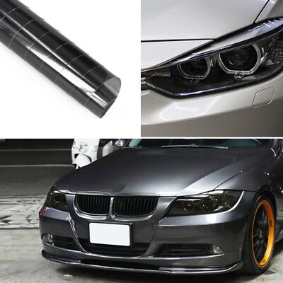 1M*30CM Auto Car Headlight Taillight Fog Light Vinyl Tint Film Light Black New