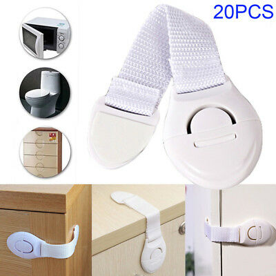 20PCS Kids Baby Proofing Safety Useful Door Fridge Cupboard Cabinet Drawer Locks