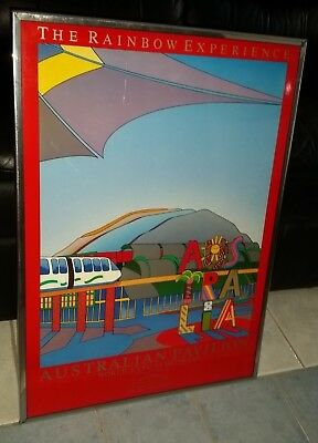 EXPO 88 'The Rainbow Experience' Australian Pavilion large glossy framed poster