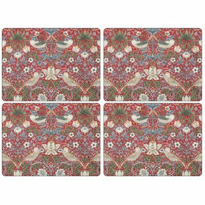 New Pimpernel William Morris Strawberry Thief Red Placemats - Set Of 4 Dining