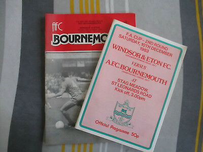 1983-84 Bournemouth V Windsor FAC and 1983-84 Windsor V Bournemouth FAC replay