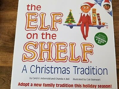 elf on the shelf christmas tradition dark skin brown dye boy elf book set new - Elf On The Shelf Christmas Tradition
