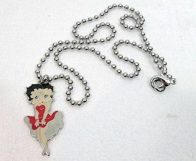 BETTY BOOP sexy - COLLANA in METALLO ANALLERGICO-CIONDOLO in METALLO SMALTATO