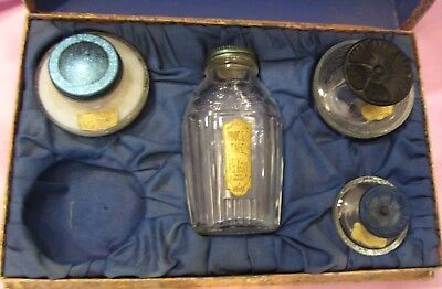 LE TON Boxed Perfume Set ~  Circa 1930's ~ 2 Perfume Bottles - Talc and Creme