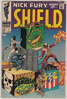 Nick Fury, Agent Of S.h.i.e.l.d. #1, Marvel 1968, Vg Condition