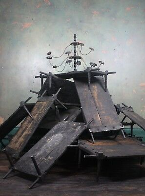 Victorian Foundry Cooling Racks Wrough Iron Antique Industrial Salvage Decortive