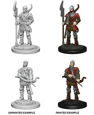 TOWN GUARDS - DUNGEONS & DRAGONS PATHFINDER UNPAINTED 2 x 25MM MINIATURES