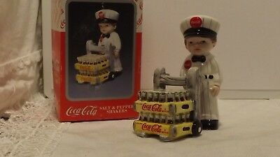 1997 Coca-Cola Delivery Man Salt & Pepper Shakers In Box