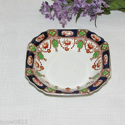 Imperial Derby Vintage Square Fruit Bowl T. Hughes & Son Nappy England Cobalt
