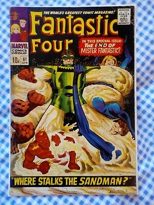 Fantastic Four 61 (1967) vs. Sandman, Jack Kirby art
