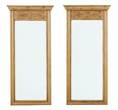 Pair Of 20Th Century Carved Pine Pier Mirrors