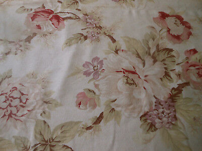Vintage Roses Furnishings Fabric ~ Blush Roses Lavender ~ English French Style