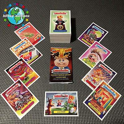 GARBAGE PAIL KIDS ADAM GEDDON COMPLETE 180-CARD SET 2017 FreeWorldShip +WRAPPER!
