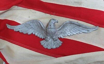 Vintage Cast Aluminum Eagle Wall Hanger Plague Indoor Outdoor 20""