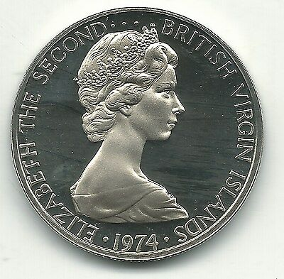 Very Nice Proof 1974 Commonwealth Of The Bahamas 25 Cent Coin-Sail Boat-Oct317