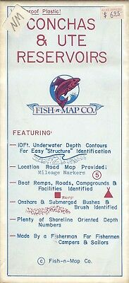 Fish-n-Map Co. CONCHAS & UTE RESERVOIRS New Mexico