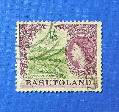1954 Basutoland 1S Scott# 52 S.g.# 49 Used                               Cs20180