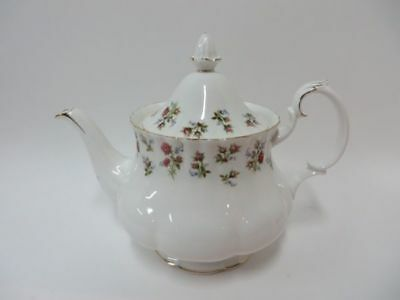 Royal Albert Winsome Teapot Large Bone China England Purple Flowers
