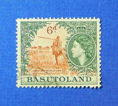 1954 BASUTOLAND 6d SCOTT# 51 S.G.# 48 USED                               CS20168