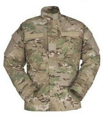 US Army Multicam OCP NYCO COMBAT TACTICAL ACU Coat Jacket Shirt ml