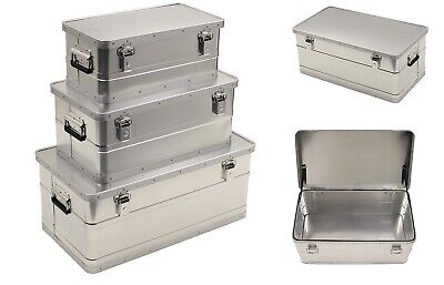 Aluminum Box Aluminum Box Box Transport Box Storage Chest Transport Box Silver