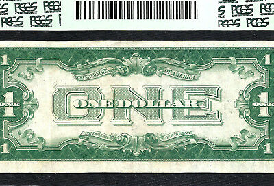 1928A $1 SILVER Certificate ~FUNNY BACK~ PCGS VERY FINE 30PPQ Old US Paper Money