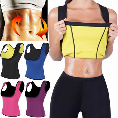 Hot Thermo Sweat Neoprene Body Shaper Slimming Waist Trainer Cincher Vest Tops