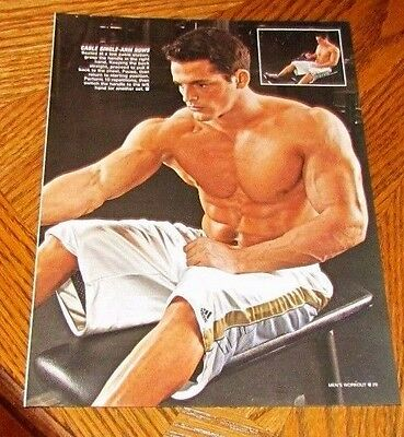 Shirtless JESSIE GODDERZ 8X10 PINUP Clipping Male Chest Abs WWE MTV Big Brother