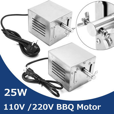 60KGF Stainless Steel BBQ Motor Rotisserie Pig Chicken Grill Electric Roaster