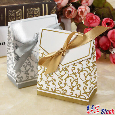 10-100pc Wedding Favour Favor Sweet Cake Gift Candy Boxes Bags Anniversary Party