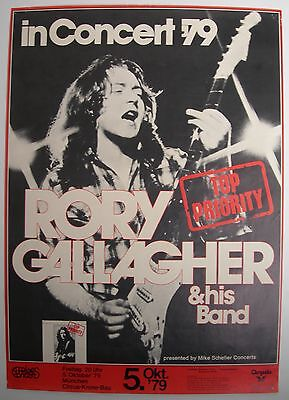 Rory Gallagher Concert Tour Poster 1979 Top Priority