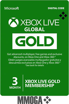 3 Months Xbox Live Gold Membership 90 Days - Microsoft Xbox 360 One Subscription