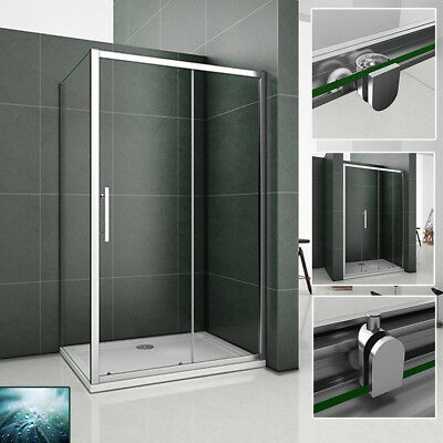 Easyclean Glass Sliding Shower Enclosure Tray Walk In Screen Cubicle +Rise Kit
