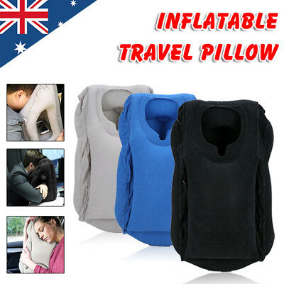 Inflatable Travel Nap Camping Pillow Air Cushion Neck Comfortable Support Pillow