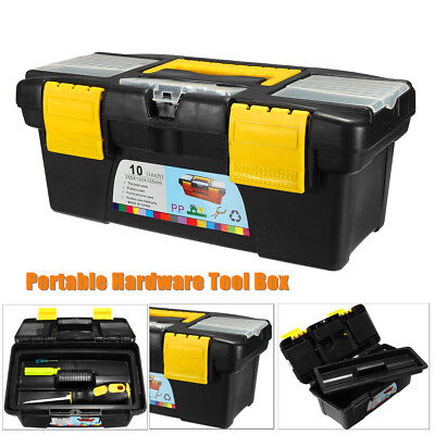 9.84'' Plastic Hardware Tool Storage Portable Box For Home Organizer Cabinet Bin