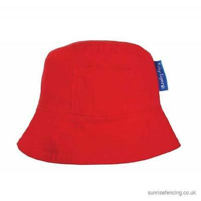 BNWT Stunning Toby Tiger Red Sun Hat Sunhat With Ties