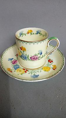Crown Staffordshire Demitasse Coffee Cup & Saucer 713977