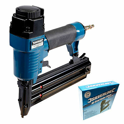 Silverline Air Brad Nailer Nail Gun Fires 18 Gauge Brad Nails 10-50mm